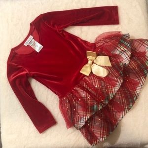 Used ONCE, Bonnie Jean Size 3T Christmas Dress